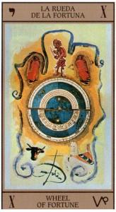 10 Аркан Колесо Фортуны Таро Сальвадора Дали Dali Universal Tarot