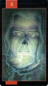 10 Колесо Фортуны Готическое Таро Вампиров