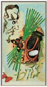 10 Жезлов  в Таро Сальвадора Дали (Dali Universal Tarot)