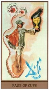 Паж Кубков  в Таро Сальвадора Дали (Dali Universal Tarot)