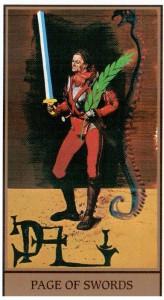 Паж МЕЧЕЙ в Таро Сальвадора Дали (Dali Universal Tarot)