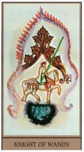Рыцарь Жезлов  в Таро Сальвадора Дали (Dali Universal Tarot)