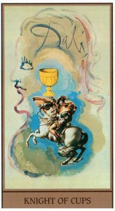 Рыцарь Кубков  в Таро Сальвадора Дали (Dali Universal Tarot)