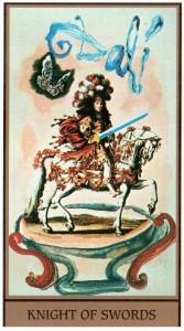 Рыцарь МЕЧЕЙ в Таро Сальвадора Дали (Dali Universal Tarot)