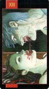 13 Смерть Готическое Таро Вампиров