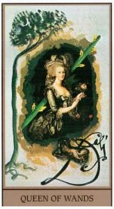 Королева  Жезлов  в Таро Сальвадора Дали (Dali Universal Tarot)