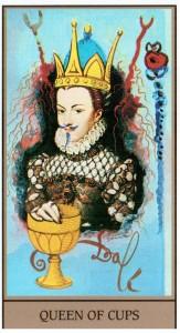 Королева Кубков  в Таро Сальвадора Дали (Dali Universal Tarot)