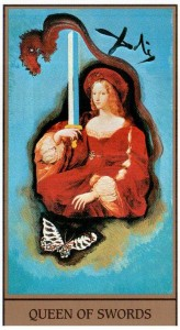 Королева МЕЧЕЙ в Таро Сальвадора Дали (Dali Universal Tarot)