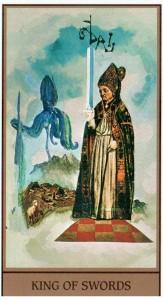 Король МЕЧЕЙ в Таро Сальвадора Дали (Dali Universal Tarot)