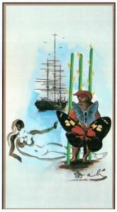 3 Жезлов  в Таро Сальвадора Дали (Dali Universal Tarot)