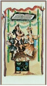 4 Жезлов  в Таро Сальвадора Дали (Dali Universal Tarot)