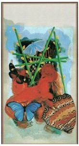 5 Жезлов  в Таро Сальвадора Дали (Dali Universal Tarot)
