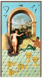 5 Кубков  в Таро Сальвадора Дали (Dali Universal Tarot)