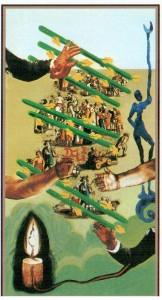 7 Жезлов  в Таро Сальвадора Дали (Dali Universal Tarot)