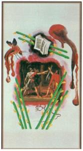 8 Жезлов  в Таро Сальвадора Дали (Dali Universal Tarot)