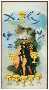 8 Кубков  в Таро Сальвадора Дали (Dali Universal Tarot)
