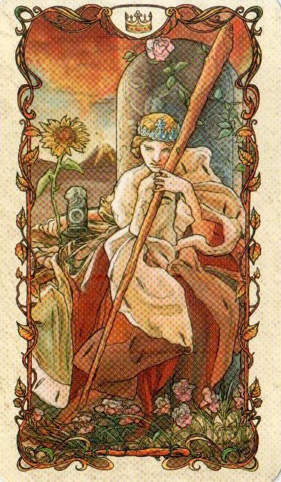 Королева Жезлов Таро Альфонса Мухи MUCHA TAROT