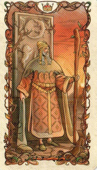 Король Жезлов Таро Альфонса Мухи MUCHA TAROT