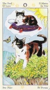 0 Глупец Таро Языческих Кошек (Tarot of Pagan Cats)