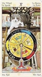 10 Колесо Фортуны Таро Языческих Кошек (Tarot of Pagan Cats)