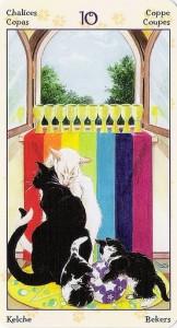 10 Кубков Таро Языческих Кошек (Tarot of Pagan Cats)