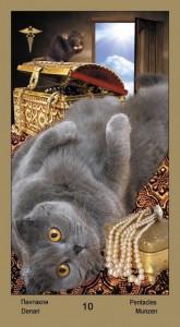 """10 Масть Пентаклей Таро """"Катавасия"""" (Tarot Cat-A-Vasya)"""
