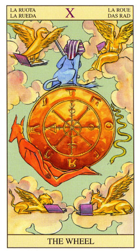 Колесо Фортуны Старшие Арканы Таро Нью Вижн (Tarot of the New Vision)