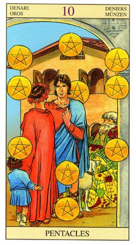 10 Масть Пентаклей Таро Нью Вижн (Tarot of the New Vision)