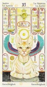 11 Правосудие Таро Языческих Кошек (Tarot of Pagan Cats)