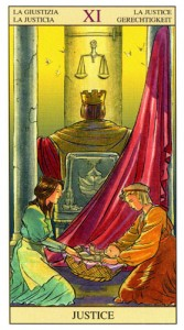 Правосудие Старшие Арканы Таро Нью Вижн (Tarot of the New Vision)