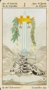Туз Масть Мечей Таро Языческих Кошек (Tarot of Pagan Cats)