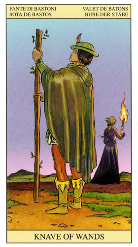 Паж Масть Жезлов Таро Нью Вижн (Tarot of the New Vision)