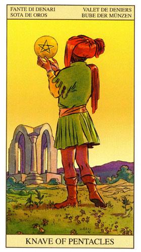 Паж Масть Пентаклей Таро Нью Вижн (Tarot of the New Vision)
