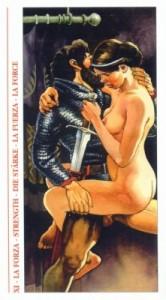 11 Сила - Таро Декамерон - галерея карт