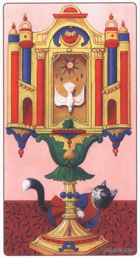 1 Туз Кубков Таро Марсельских кошек (Marseille Cat Tarot)
