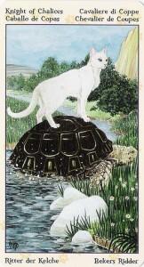 Рыцарь Кубков Таро Языческих Кошек (Tarot of Pagan Cats)
