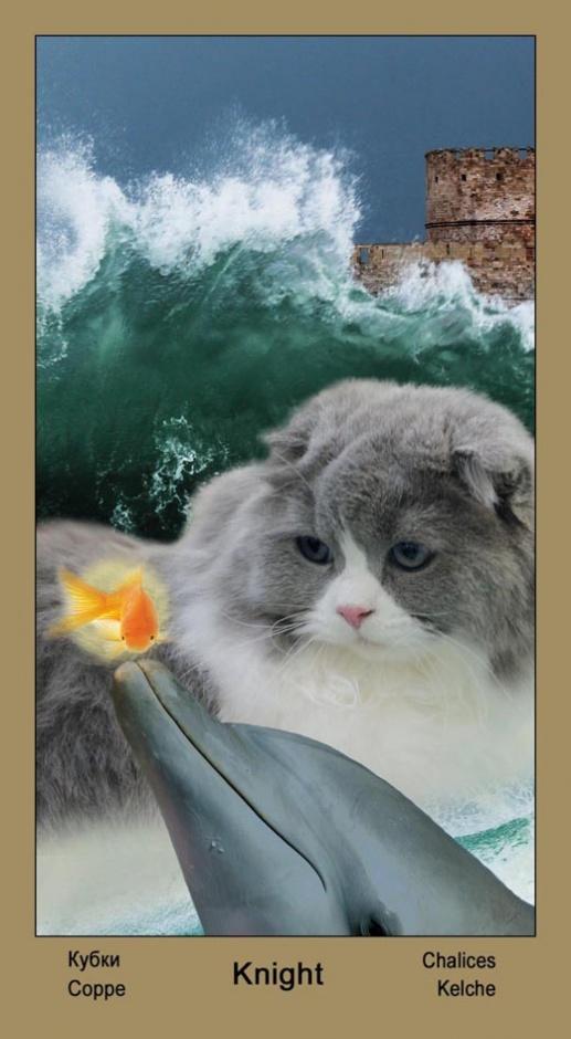 """Рыцарь Масть Кубков Таро """"Катавасия"""" (Tarot Cat-A-Vasya)"""