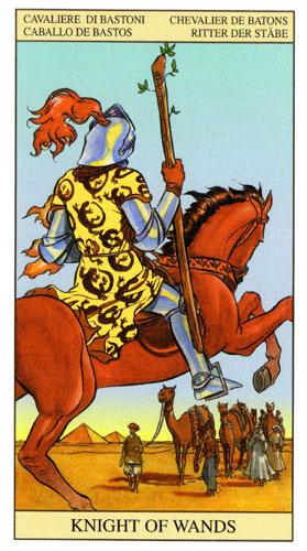 Рыцарь Масть Жезлов Таро Нью Вижн (Tarot of the New Vision)