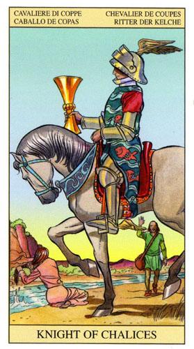 Рыцарь Масть Кубков Таро Нью Вижн (Tarot of the New Vision)