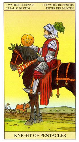 Рыцарь Масть Пентаклей Таро Нью Вижн (Tarot of the New Vision)