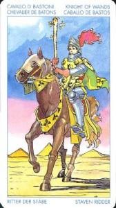 Рыцарь Масть Жезлов Универсальное Таро Артура Уайта  (Роберто Де Анджелис)