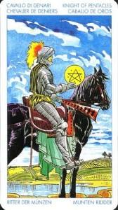 Рыцарь Масть Пентаклей Универсальное Таро Артура Уайта (Роберто Де Анджелис)