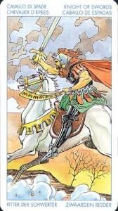 Рыцарь Масть Мечей Универсальное Таро Артура Уайта (Роберто Де Анджелис)
