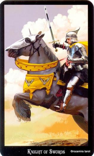 Рыцарь Масть Мечей Колдовское Таро Элен Дюген