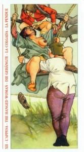 12 - Повешенный - Таро Декамерон - галерея карт
