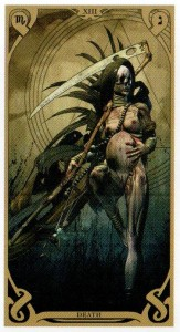 13 Аркан Смерть  Таро Ночного Солнца Фабио Листрани