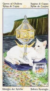 Королева Кубков Таро Языческих Кошек (Tarot of Pagan Cats)