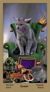 """Королева Масть Пентаклей Таро """"Катавасия"""" (Tarot Cat-A-Vasya)"""