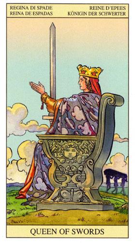 Королева Масть Мечей Таро Нью Вижн (Tarot of the New Vision)