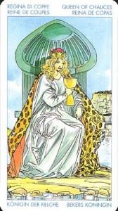 Королева Масть Кубков Универсальное Таро Артура Уайта (Роберто Де Анджелис)